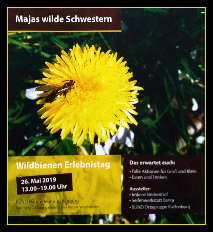 plakat wildbienen 2019